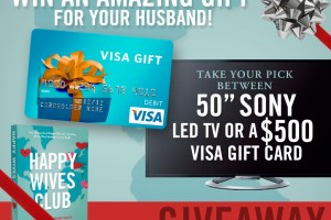 Happy Husband Giveaway: Sony LED HDTV or $500 Visa Gift Card!